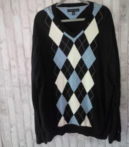 Tommy Hlifiger Men'sv neck Sweatshirt